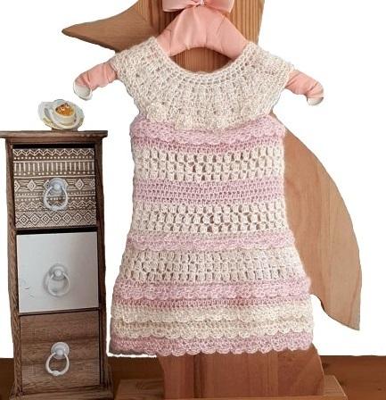 best value 5ccec f8f27 Gehäkeltes Babykleid für Neugeborene, Alpaca Babykleider