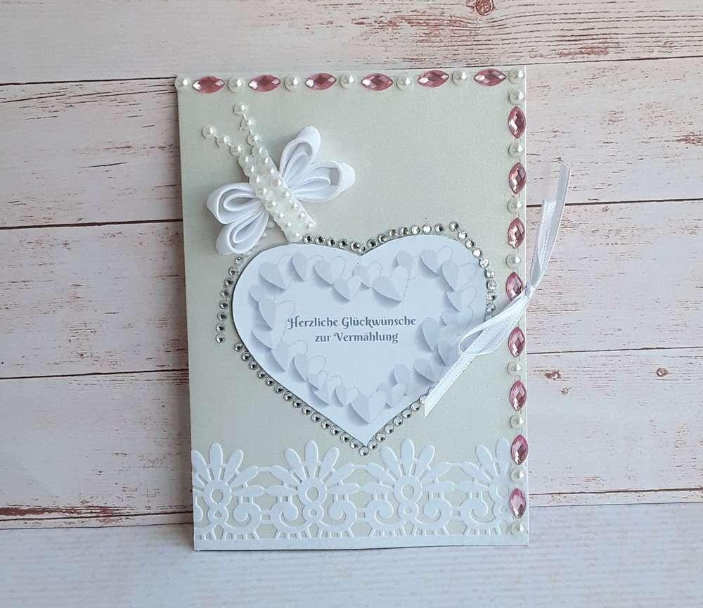 Glückwunschkarte Zur Hochzeit Mit Umschlag Handgemacht